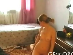 Cute chicks play lesbo game