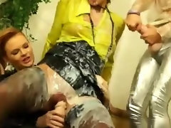 Vagina hammering lesbo nymphos go for it at their house