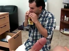 Happy fellow gets his firm dick licked gay