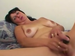 Experienced randy slutty wife using her adult toy