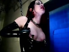 Bound bdsm fetish bitch whipped by her master