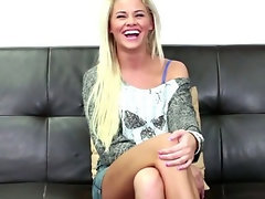 Blond with a fabulous smile on CastingCouchX
