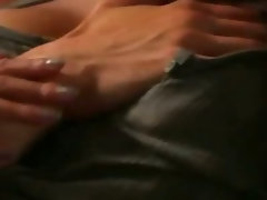 Large melons asian pornstar Sharon Lee vulva fondled and rides a prick