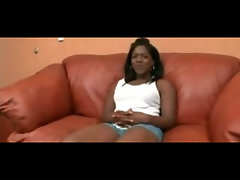 Naughty ebony Sexy fanny Creampie On Couch