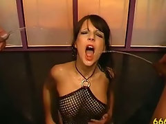 Watersports fetish bitch cock sucking fuck piss shower