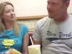 Sassy teen blondie cute chicks get picked up at a dinner and fuck