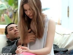 fashionable euro young woman shagging with black