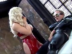 Extremely sexual blond Latexslut