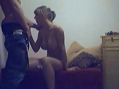 Randy dirty wife get 19 years old lover phallus inside her