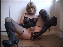 handjob by transsexual slave for the mistress