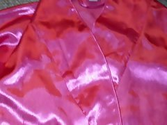 Pinkish Satin Robe