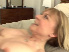 Buxom puma seduces in stockings and a garter