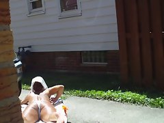 Jerking While She Tans 3