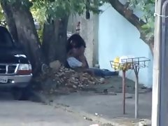 Amateur sex on street