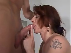 German Bushy Mum gets a rough fuck with 18yo man