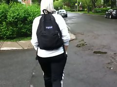 arab hijab beurette marocaine bum butt naughty butt walking