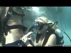 Scuba diving girl is banged in her raw twat