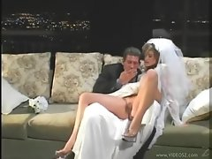 Lady in her wedding dress screwed brutal