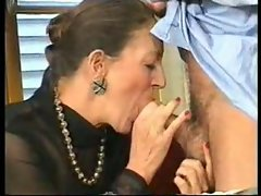 Granny licks penis and gets it in the rear