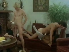 Maid and filthy black gal banging in classic porn