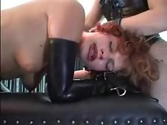 Anus fake penis play for the submissive vixen