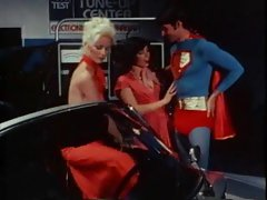 Superman screws two attractive porn legends