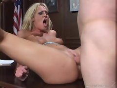 Lusty jailbird getting banged by the warden