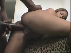 Ebony on black with huge pecker act