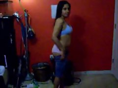 Seductive indian young woman blowjob, dance and a filthy fuck