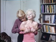 Classic porn sequence with four alluring folks