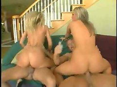Two slutty chicks in corsets each get banged wild