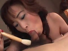 Sensual japanese filthy bitch gets raunchy with her man