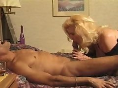 Attractive mature blond seduces him for a doggy style fuck