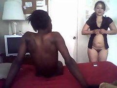 Black dick screwing raunchy amateur white young woman