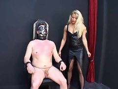 Tempting blonde is absolutely abusive in femdom episode