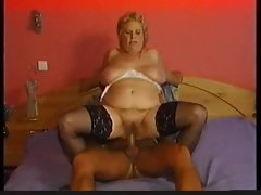 Stockings on plumper granny that wants phallus