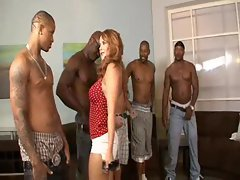 Wild vixen picks her favorite black lad