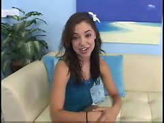 Sassy teen on the casting couch makes dirty porn