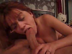 She gives a absolutely slow dick sucking