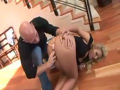 Blond whore does it all with his xxl huge cock