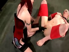 Sub gets pegged by her dominant