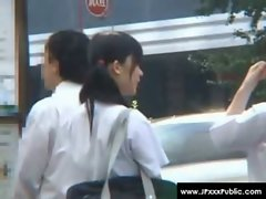 Public Sex in Japan - Sensual Raunchy teen Asians Outdoor Fuck 31
