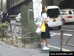 Public Sex in Japan - Stunning Seductive teen Asians Outdoor Fuck 06