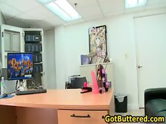 Dude gets his butt buttered in office gay gay porno