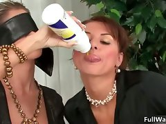 Sensual dark haired lesbos get alluring playing part2
