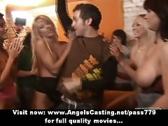 Boozy orgy with nude crazy ladies getting cumshot and dancing