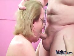 Molly swallows cum