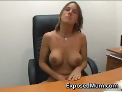 Dolled up mum gives excellent wank part5
