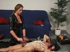 Attractive dark haired ties fellows body and drips part4