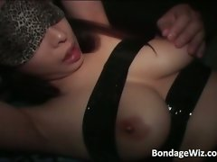 Tied up Asian vixen find enjoyment in in racy cunt part6